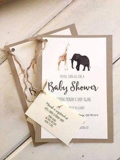 Bonita tarjeta para un baby shower