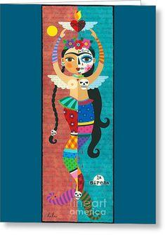 Frida Kahlo Dancing In Traditional Dress Print By LuLu Mypinkturtle
