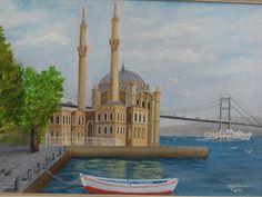 Ortaköy Camii   Tuval üzerine yağlıboya 35x50 cm.   2010 yılında yaptım. Kod. No. : 54-2010
