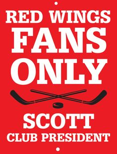 Red Wings Custom Personalized Bar Sign  by thepersonalizedstore #ManCave #FathersDay #Groomsmen