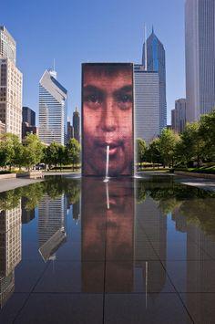 Crown Fountain (Chicago, Illinois, USA)