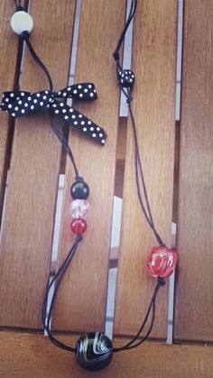 Beautiful Women Necklace with Beads. Black and Red Passion Beads. Summer Cute Necklace for Women! by Bohemicin on Etsy