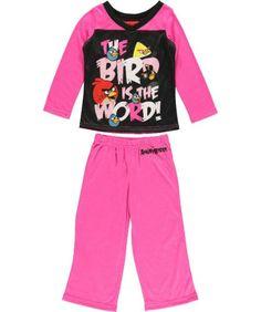 Ame Sleepwear Girls 2-6x Angry Bird Is The Word « Clothing Impulse