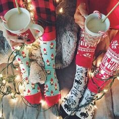 Christmas, socks, and best friends
