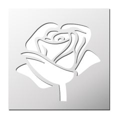 Pochoir Rose Leaf Stencil, Mandala Stencils, Stencil Patterns, Stencil Painting, Stencil Designs, Butterfly Template, Flower Template, Homemade Stencils, Kirigami