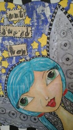 """""""Art saved her"""" my very first art journal cover"""