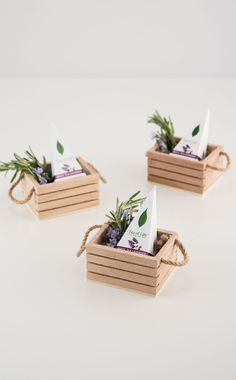 Give your favor presentation instant personality with this miniature wooden crate featuring twine handles. Completely irresistible, this unique favor.Top 19 Country Wedding Decorations - Outside The Box Wedding Affordable wholesale table accessories, Wooden Crates Wedding, Wood Crates, Wood Boxes, Diy Gift Box, Diy Box, Diy Gifts, Wooden Gift Boxes, Diy Popsicle Stick Crafts, Diy With Popsicle Sticks