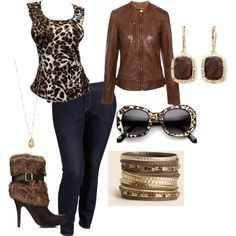 Plus Size Brown Safari Outfit for fall.