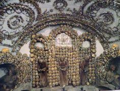 """Capuchin Crpyt - a chapel made of human bones in Rome.  File this under the """"creepiest place"""" I have been."""