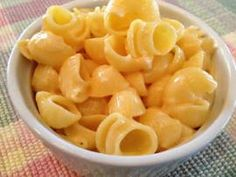 Easy Mac 'n' Cheese  - 1 lb. pasta, 1 pkg. lactose free shredded cheese, 1+ c. almond milk, 1/4 c. Earth Balance, 1 - 15oz. can tomato puree. This is soooooooooo awesome!!!