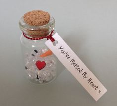 Cute Xmas Gift For Wife/Husband/Boyfriend/Girlfriend/Partner   Melted snowman in a bottle www.facebook.com/Funkyjunk.Upcycled.UK