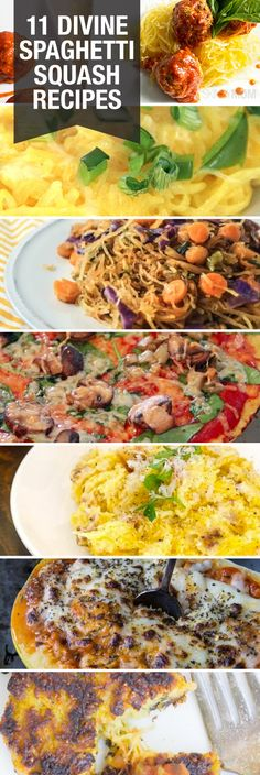 11 Healthy Spaghetti Squash Recipes (not all are exactly low carb but easily adaptable) (Banana Squash Recipes) Low Carb Recipes, Vegetarian Recipes, Cooking Recipes, Healthy Recipes, Veggie Dishes, Vegetable Recipes, Healthy Cooking, Healthy Eating, Snack