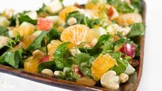 Palak and Fruit Salad Recipe