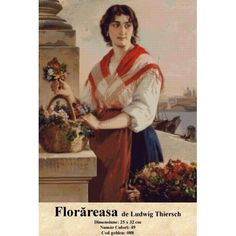 Cross Stitch Set - The Florist by Ludwig Thiersch Counted Cross Stitch Kits, Tapestry, Crossstitch, Painting, Art, Embroidery, Hanging Tapestry, Cross Stitch, Art Background