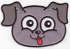 Devoted Happy dog I double applique | Applique Machine Embroidery Design or Pattern