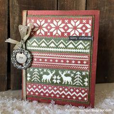 Richele Christensen: Tim Holtz Inspirations Series - Holiday Knit Card