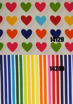 Tecido Listrado Colorido Importado Ref 14249- 50cm - Casa Belém