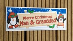 Nan & Granddad Christmas Card by TheBlenheimCardCo on Etsy
