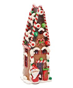 Short Gingerbread House Figurine