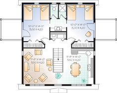 Second Floor Plan of Country   Garage Plan 65011