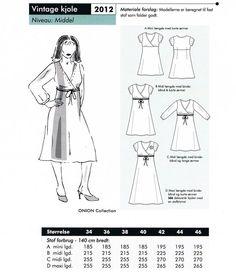 2012 ONION Schnittmuster Kleid 34-46