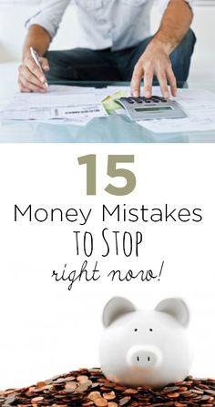 Money mistakes, money tips, money hacks, credit card tips, popular pin, save money, grow your money, money management.