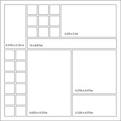 Mosaic Moments layout sketch 48