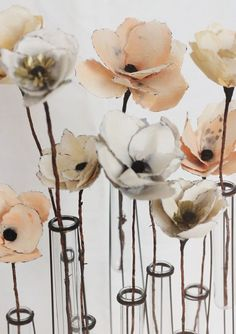 watercolor paper flower decor