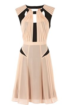 Light Pink & Black Dress