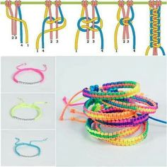 A braided friendship bracelet is a perfect gift to show love to your close friends. In this diy jewelry tutorial, you will learn how to braid a knotted bracelet. Diy Bracelets Easy, Bracelet Crafts, Braided Bracelets, Macrame Bracelets, Jewelry Crafts, Diy Bracelets Step By Step, Gimp Bracelets, Knotted Bracelet, Making Bracelets