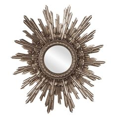 Hollywood Regency, Howard Elliott, Chelsea Mirror, Round, Starburst, Sunburst #HowardElliott #HollywoodRegency