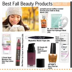 Best Fall Beauty Products Under $10, created by kusja on Polyvore
