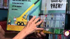 """Mrs Mac from Wodonga Library reading"""" Construction"""" by Sally Sutton- a great pic for active kids, especially boys."""