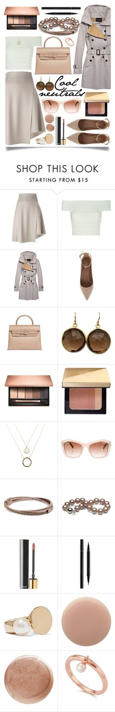 """Cool Neutrals"" by ittie-kittie ❤ liked on Polyvore featuring 08 Sircus, Alexander McQueen, Derek Lam, Aquazzura, Alexander Wang, Blue Candy Jewelry, Clarins, Bobbi Brown Cosmetics, Chanel and Michael Kors"