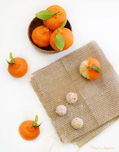clementine dessert balls, made from the peel of clementines that is soaked in water for a couple of days then finely ground and cooked with some sugar to thicken and sweeten it