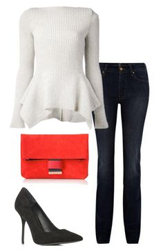 One Sweater / Two Ways / Pop of red.