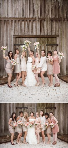 I love the bridesmaids dresses.