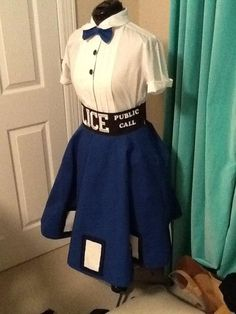 Tardis skirt--Can't decide if this should go on my Doctor Who board or my My Style board! <3