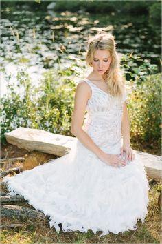 Photo by Joel Bedford; Rosa Clara wedding dress #tankewddinggown #outdoorwedding #weddingchicks http://www.weddingchicks.com/2014/01/06/weekend-wedding/