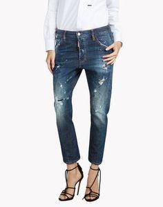 kenny twist jeans denim Woman Dsquared2