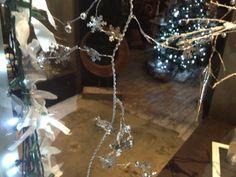 fairy lights with cotton rag ties