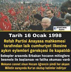 Erbakan hocayı devirip partisini kapattılar ve bu tam bin yıl sürecek dediler Ancak Erbakan Hocanın öğrencisi çıktı bin yıl sürecek dedikleri Hükümdarlıklarını 10 yıl bile geçmeden başlarına yıktı Mekanın cennet olsun Hocam rahat uyu intikamın alındı Islam