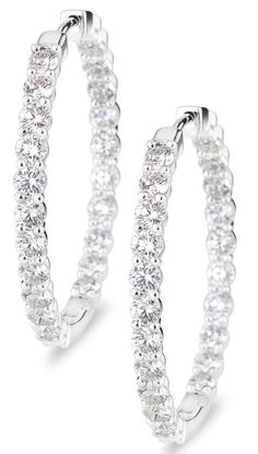 With A Total Diamond Weight Of These 1 Inch Hoop Earrings Will Definitely Add Plenty Sparkle To Your Jewelry Collection