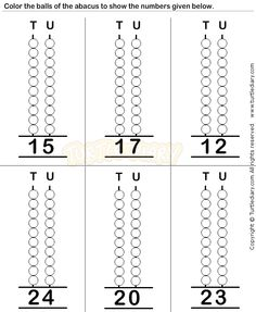Abacus4 - math Worksheets - preschool Worksheets