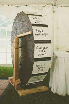Wheel of fortune, wedding style!
