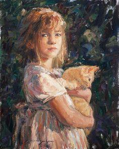 Trent Gudmundsen Pink Dress, Orange Cat