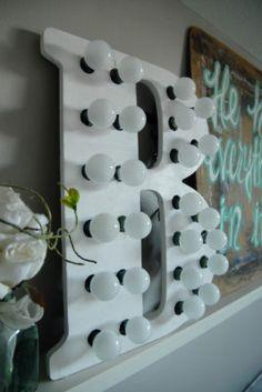 Marquee Letter | Beachwood Design