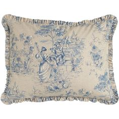 Legacy Standard Toile Sham ($136) ❤ liked on Polyvore featuring home, bed & bath, bedding, bed accessories, indigo, toile pillow shams, legacy bedding, indigo bedding, toile bedding and toile bed linens