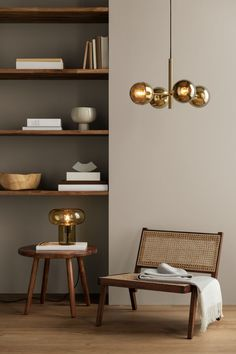Metalowa lampa wisząca - Złocisty - HOME   H&M PL Interior Inspiration, Room Inspiration, Round Wooden Coffee Table, Coffee Tables, Hm Home, House In The Woods, Interiores Design, Home And Living, Living Rooms