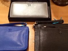 Check out our beautiful DollyRed bags and purses at Woodcock and Cavendish! Here we have Dolly Purse in pewter, Gail clutch in black, and Harriet in royal blue.